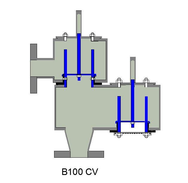closed vent pressure relief valve