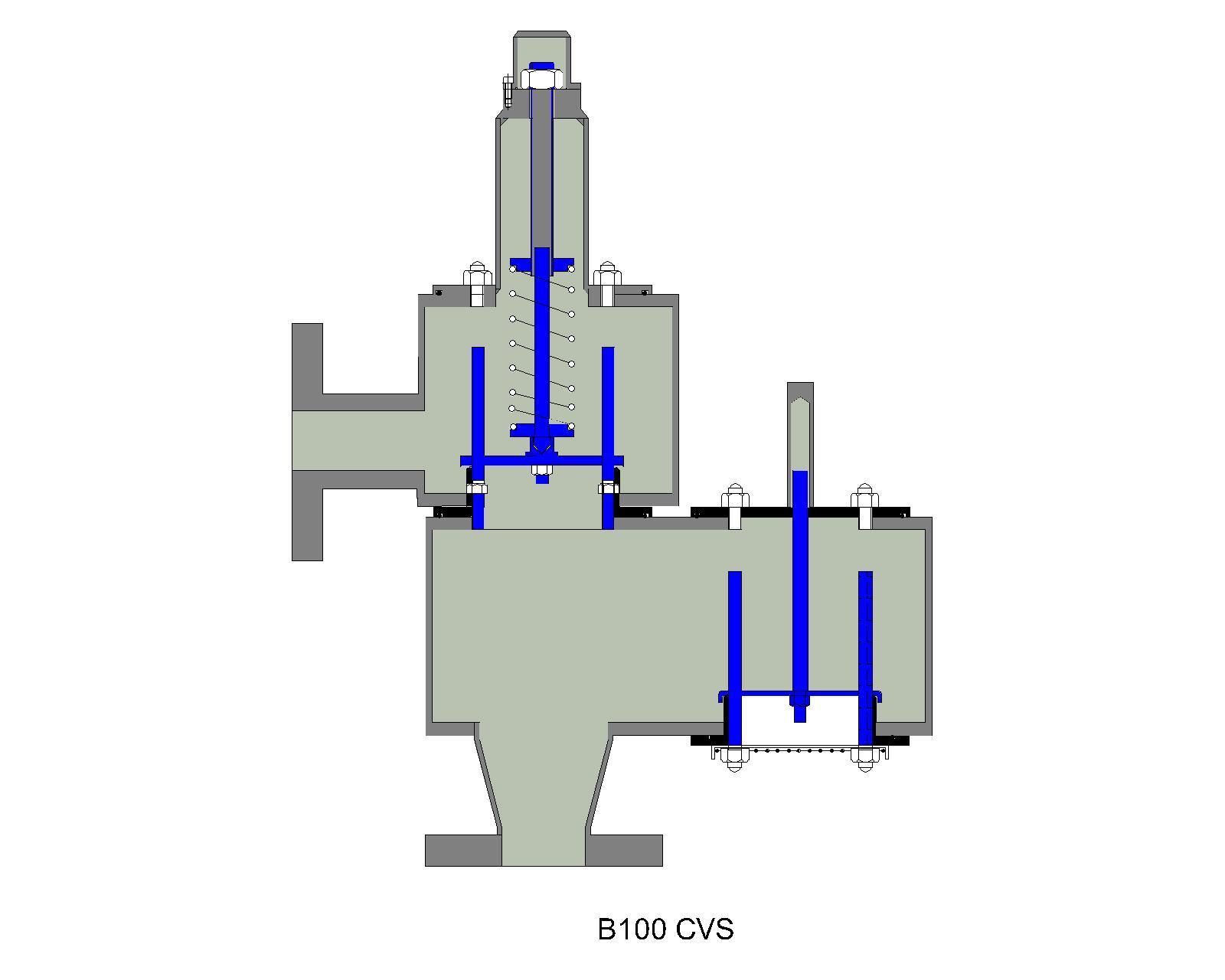 B100 closed vent spring pressure relief valve