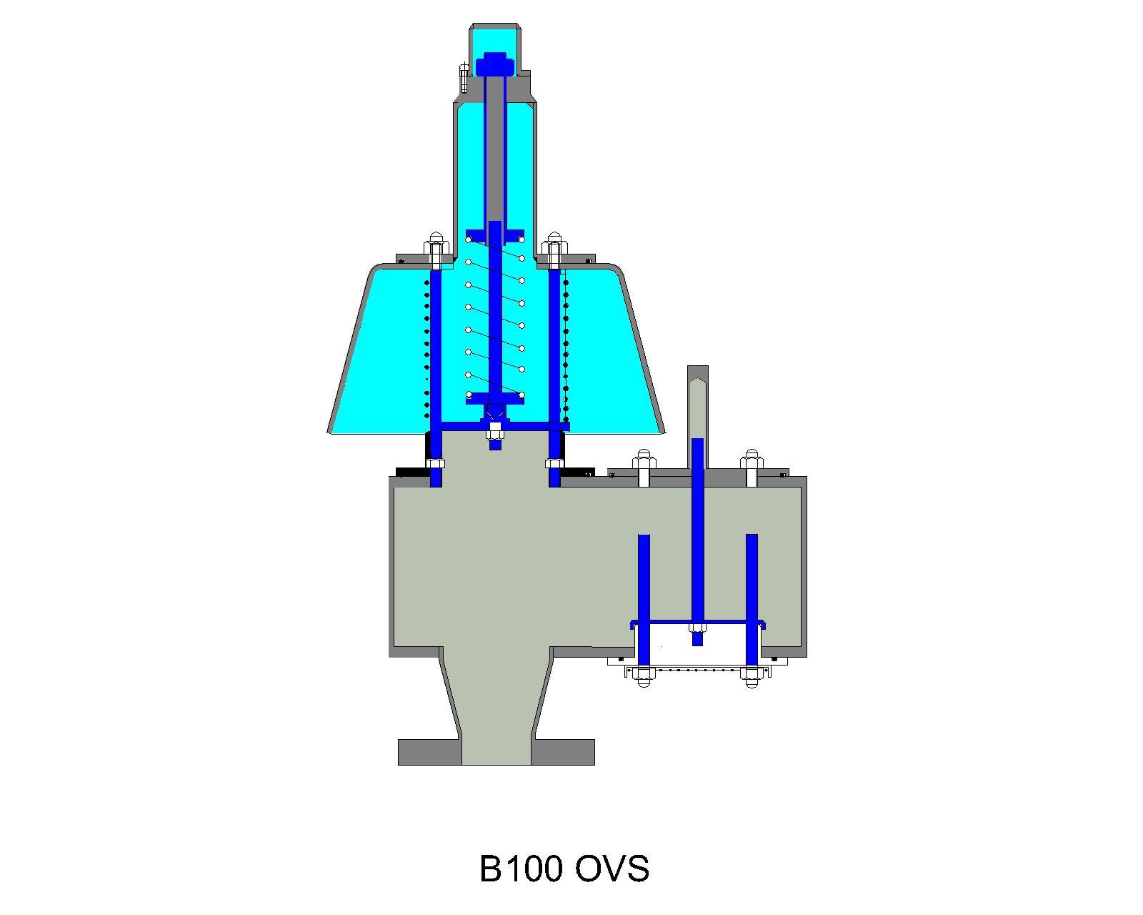 B100 OVS pressure relief valve diagram